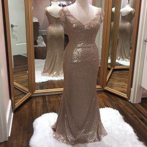Floor length sequin formal dress